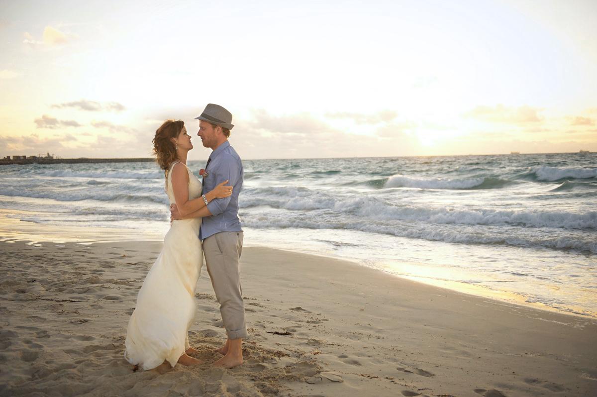 Dani & Steve - Salt on the beach wedding Perth Australia